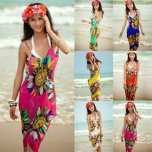 Sexy Summer Women Bathing Suit Bikini Swimwear Cover Up Beach Dress Saro... - $15.95