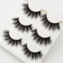 Visofree® 3 Pairs Set 3D False Eyelashes Crisscross Natural Thick Fake E... - $5.05