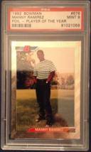 1992 Bowman Foil Rookie #676 Manny Ramirez RC Boston Red Sox PSA 9 FREE SHIP - $24.95