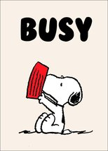 """Snoopy """"BUSY"""" Stand-Up Display - Peanuts Charlie Brown Woodstock Lucy Comics - $15.99"""