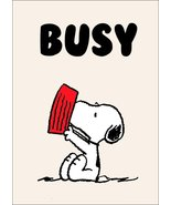 """Snoopy """"BUSY"""" Stand-Up Display - Peanuts Charlie Brown Woodstock Lucy Co... - $15.99"""