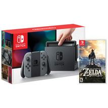 Nintendo Switch - 32GB Gray Console Gray Joy-Con factory + Legend of Zel... - $360.42