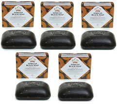 5-Pack- Nubian Heritage African Black Soap - 5 Ounce Bars - $21.68