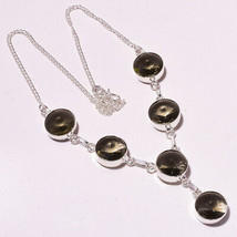 """Green Amethyst Faceted Handmade Fashion Ethnic Jewelry Necklace 18"""" UK-752 - $4.66"""