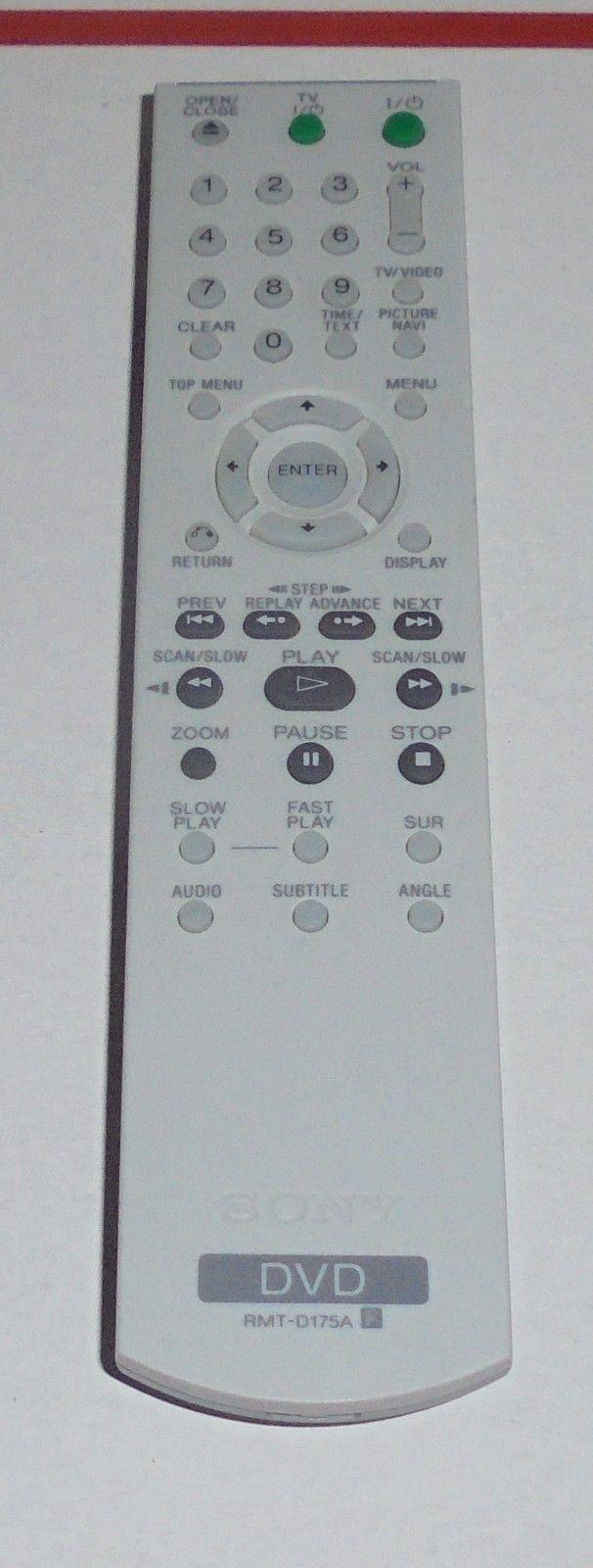 SONY RMT-D175A DVD Player Remote DVPNS41 DVP-NS41P NS45P DVPNS45PS NS50P TESTED