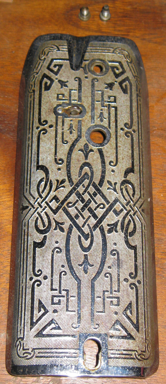 Singer 101 Scroll Face Plate Complete #66723 Used Nice Condition