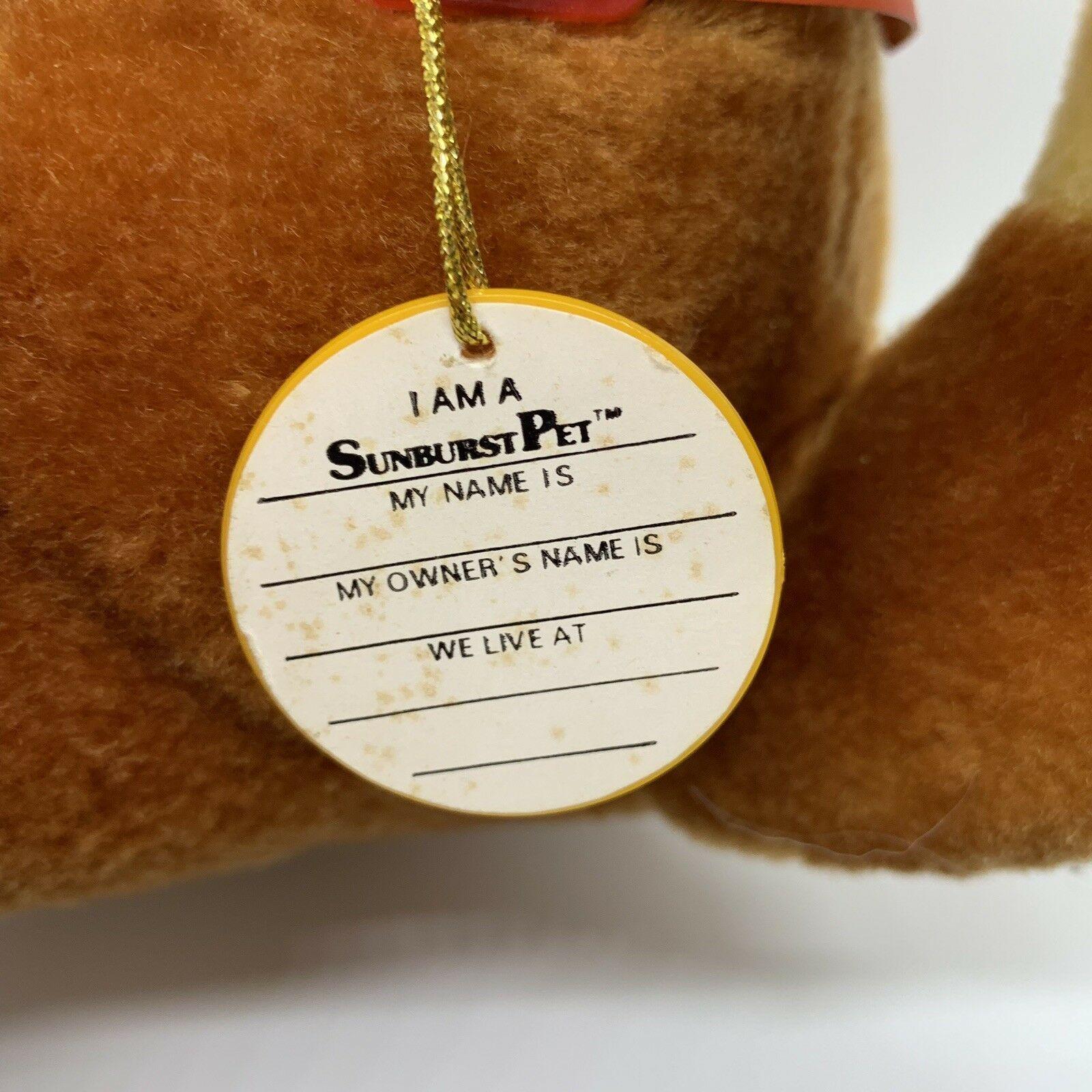 "Sunburst Pets 1983 Vintage Plush Brown Dog Commonwealth Vtg Stuffed Animal 13"" image 7"