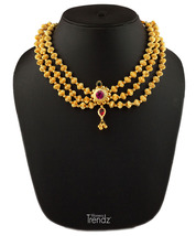 Womens Trendz Javmani Triveni Haar 24K Gold Plated Alloy Necklace  - $48.00