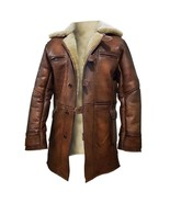 Dark Knight Rises Bane Real Shearling Real Leather Trench Coat / Jacket - $189.99