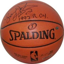 Larry Johnson signed Indoor/Outdoor Basketball 1992 ROY (Charlotte Horne... - $98.95