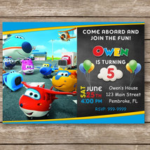 Super Wings Jett Digital Invitation, Birthday Invites - $8.00