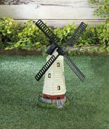 Windmill Solar Lighthouse Garden Statue Coastal Nautical Decor - $38.83