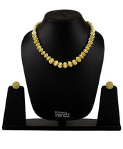Womens Trendz Special Kolhapuri Javmani Maal 24K Gold Plated Alloy Necklace and  - $42.00