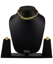 Womens Trendz Half Spiral Thushi 24K Gold Plated Alloy Necklace and Earring Set  - $33.00