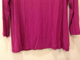 A.n.a. (A new approach) Fuchsia pink jersey blouse V-neck 3/4 sleeve size L image 6