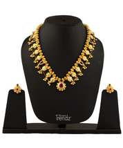 Womens Trendz Kolhapuri Saaj 24K Gold Plated Alloy Necklace and Earring Set - $57.00