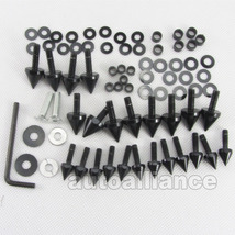 Black Spike Fairing Bolts kits fit Suzuki GSXR 1000 2003-2004 03-04 K3 - $21.99