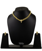 Womens Trendz Kolhapuri 24K Gold Plated Alloy Necklace and Earring Set - $33.00