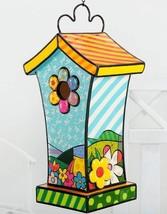 """Romero Britto 14"""" Hanging Garden Birdhouse Polyresin #331611 NEW"""