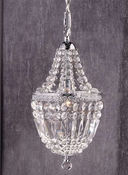 "16.7""  Giftcraft Chandelier Iron & Clear Glass NEW"