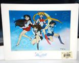 Sailor Moon Art print anime chroma Cel Sailor Team Jupiter Mars Mercury Venus
