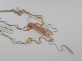 Lucky Brand Multi Strand Charm Necklace - New - $17.82