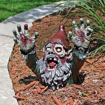 Escaping the Grave Macabre Living Dead Gruesome Gnome Zombie Halloween Prop - £59.75 GBP