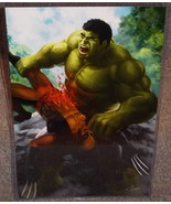 Hulk vs Wolverine Glossy Art Print 11 x 17 In Hard Plastic Sleeve - $24.99