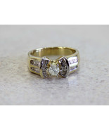 0.60ct Diamond Engagement Ring with Baguettes 1... - $494.01