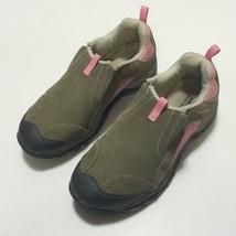 Merrell Chameleon 4 Moc Kids Girls Youth Size 5 Brown Pink Slip On Hikin... - $18.46