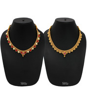 Womens Trendz Combo Pack of 2 Alloy 24K Gold Plated Alloy Necklace - $40.00