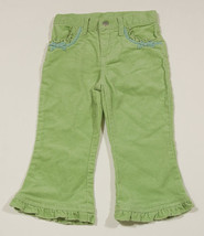 THE CHILDRENS PLACE TCP GIRLS 24M STRETCH PANTS SHIMMERY GREEN RUFFLES &... - $9.25