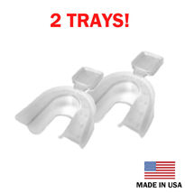2 Teeth Whitening Thermoforming MouthTrays - At Home Professional System - USA - - $8.75