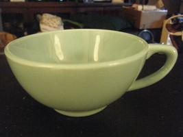 Mid Century Modern Universal Potteries Ballerina Turquoise Coffee Cup - $19.79