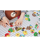 LINE Friends STICKERS Set 1 Naver App Character Decor DIY Accessary Lugg... - $10.83