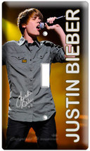 Justin Bieber Sings Single Light Switch Cover Wall Plate Teenage Girl Room Recor - $8.99
