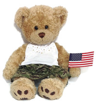 BUILD A BEAR Workshop Retired CURLY Plush Teddy... - $21.76