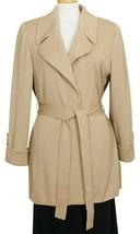 ST. JOHN Carmel Brown Belted Long Wool Blend Santana Knit Jacket 2 - $649.99