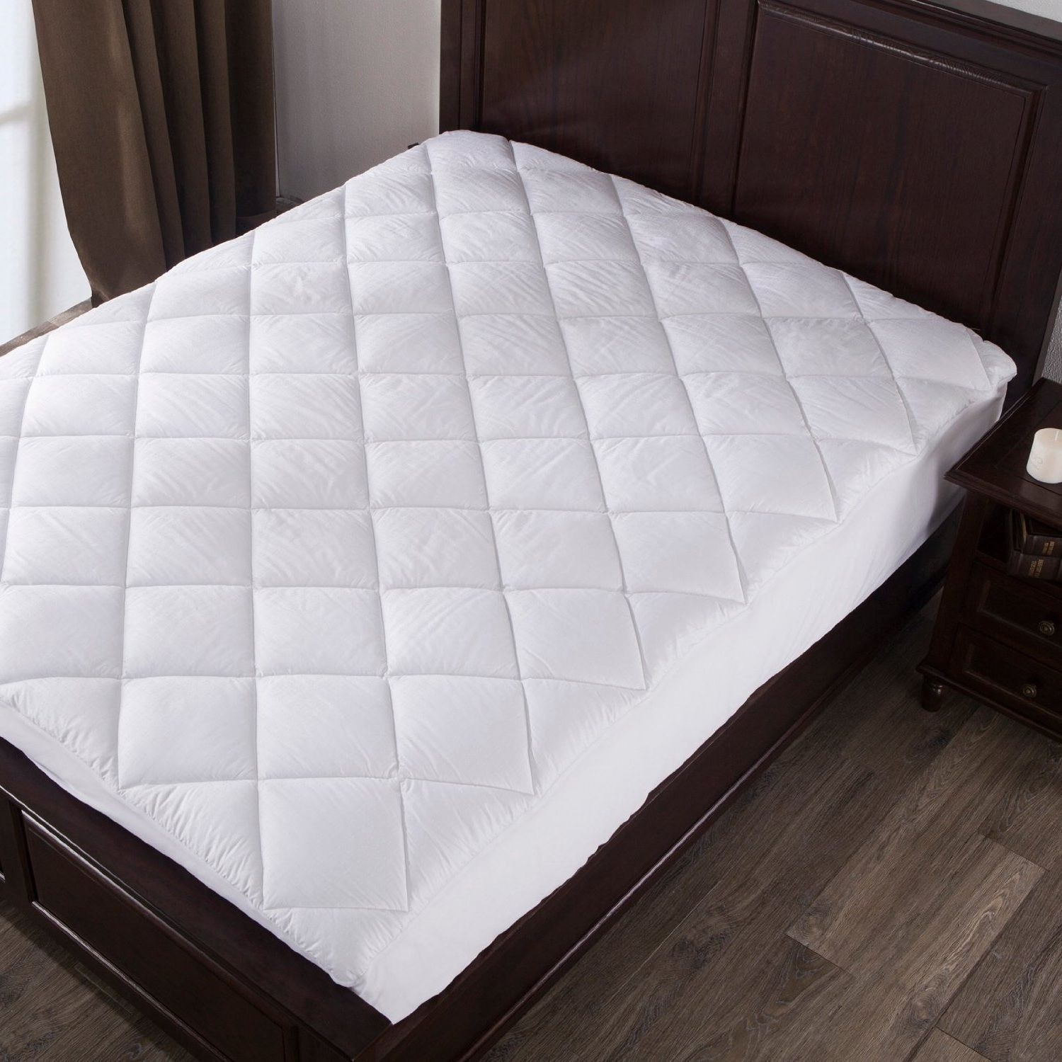 Mattress pad twin size 100 cotton topper pillow top bed cover comforter bedroom mattress pads Best twin size mattress