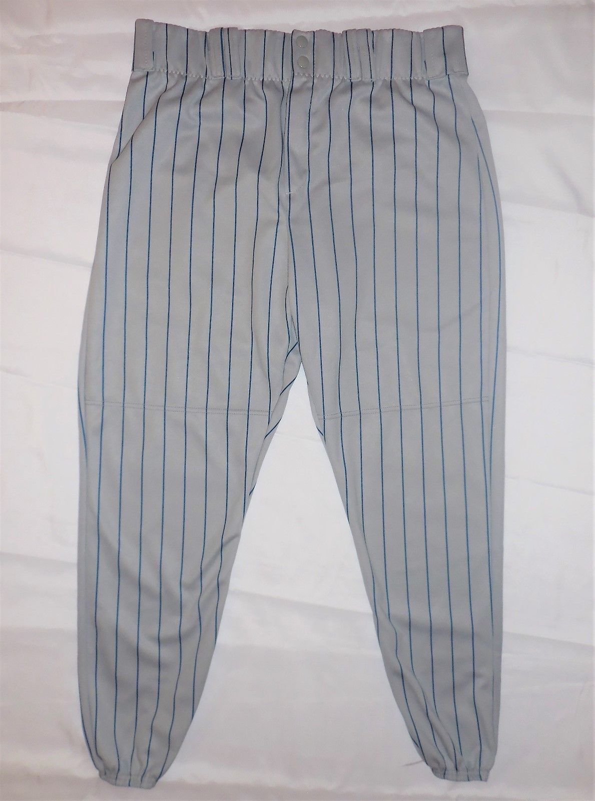 Primary image for Alleson Athletic Ankle Length Pinstripe Baseball Pants Elastic Cuffs XXL 605PINY