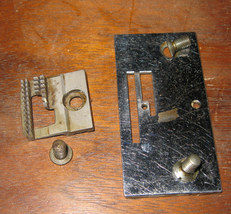 Singer 101 Feed Dog #66534 & Throat Plate #66597 Used Good Shape w/Screws - $15.00