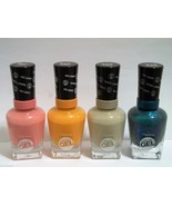 LOT OF 4 Sally Hansen Miracle Gel Nail Polish:No Light Needed Beige,Pink... - $14.80