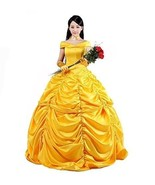 Beauty and the beast costume Women's Beauty Belle Princess Cosplay Dress... - £100.31 GBP