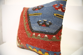 Kilim Pillows |16x16 | Decorative Pillows | 1571 | Accent Pillows turkis... - $49.00