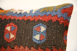 Kilim Pillows |16x16 | Decorative Pillows | 1573 | Accent Pillows turkis... - $49.00
