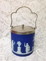 Vintage, Rare, Wegdwood, Jasperware Biscuit Jar 6.5inx5.5in - $142.45