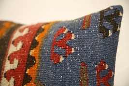 Kilim Pillows |16x16 | Decorative Pillows | 1581 | Accent Pillows turkis... - $49.00