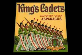 King's Cadets California Green Asparagus by Union Lithograph Co. - Art Print - $19.99+