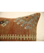 Kilim Pillows |16x16 | Decorative Pillows | 1590 | Accent Pillows turkis... - $49.00