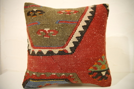 Kilim Pillows |16x16 | Decorative Pillows | 1594 | Accent Pillows turkis... - $49.00